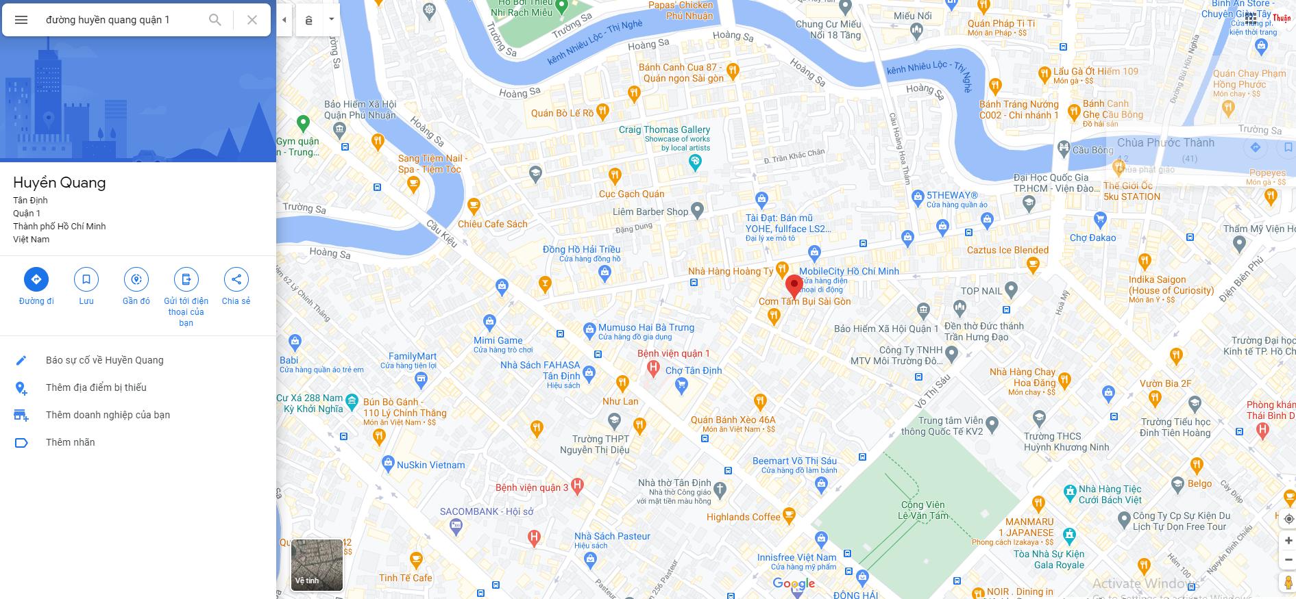 Đường Huyền Quang tại Quận 1