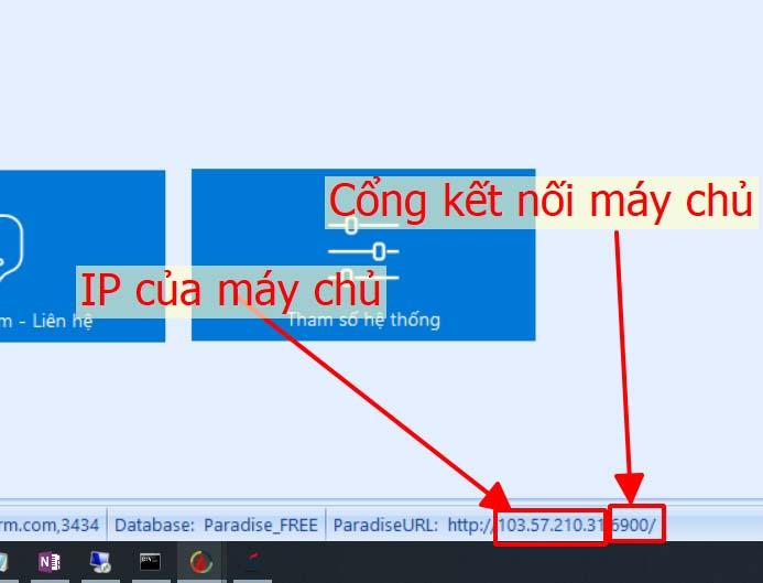 Bước 1: Tìm IP và cổng của máy chủ (Server)