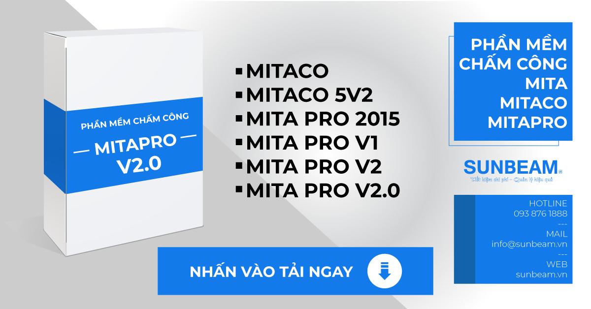 Phần mềm chấm công Mita, Mitaco, Mitapro | SUNBEAM CORP